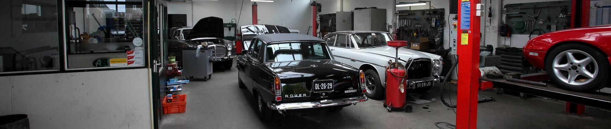 klassieke rover garage
